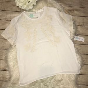 NEW Stitch Fix | Hazel Lorison Embroidered Top